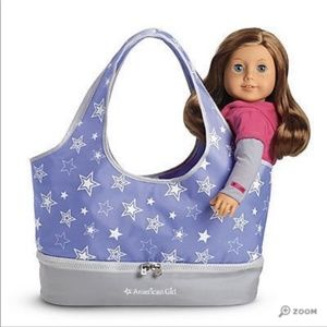 American Girl Doll Carrier Tote Periwinkle Star